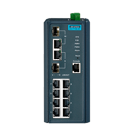 Switch gestionable 8 puertos, EKI-7710-2CI-AE