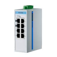 Switch ethernet 8 puertos 10/100, EKI 5528-I vista lateral